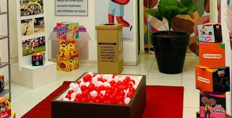 Buriti Shopping Mogi Guaçu cria espaço para arrecadar brinquedos para instituições