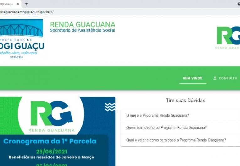 Segunda parcela do Renda Guaçuana começa a ser paga em 26 de julho